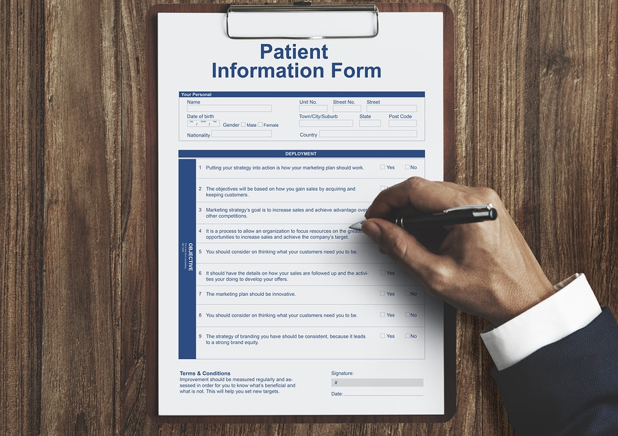 Bubar New Patient Form Image